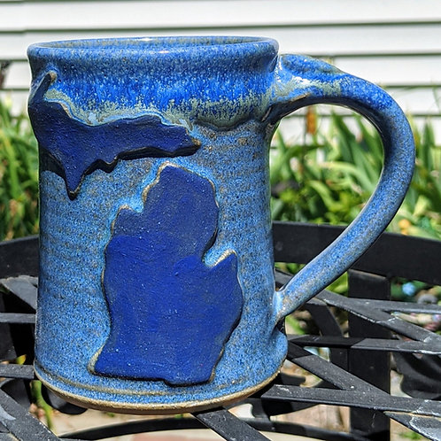 MICHIGAN MUG  by TC Pottery Studio - Stormy Blue