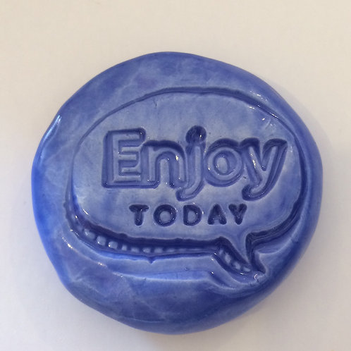 ENJOY TODAY Pocket Stone - Medium Blue