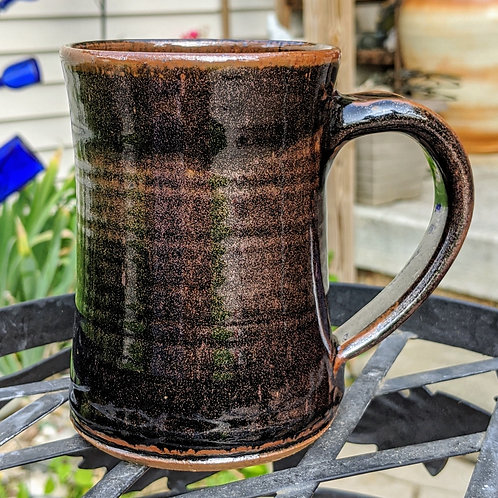 STONEWARE MUG by T C Pottery Studio - Hamada Brown Black
