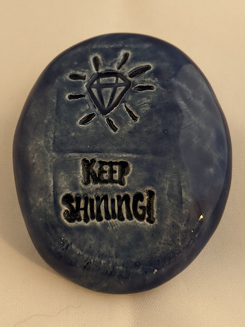 KEEP SHINING! Pocket Stone - Midnight Blue