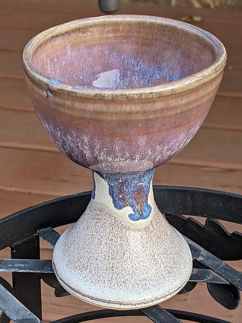 WINE GOBLET  by TC Pottery Studio - Art Glazes - Noisemaker
