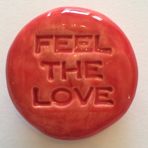 FEEL THE LOVE Pocket Stone - Scarlet Red