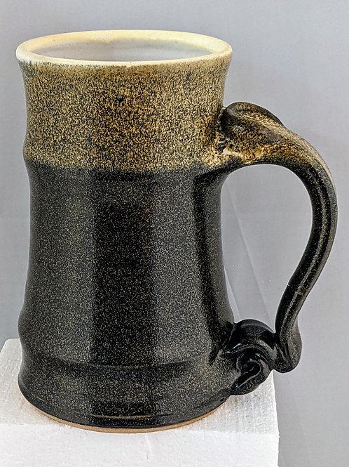 BEER TANKARD by TC Pottery Studio - Black Gold Tea Dust