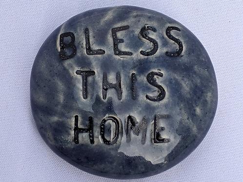 BLESS THIS HOME Pocket Stone - Denim Blue