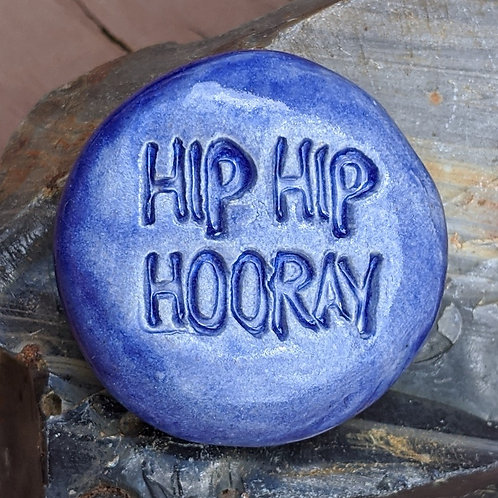 HIP HIP HOORAY Pocket Stone - Exotic Blue