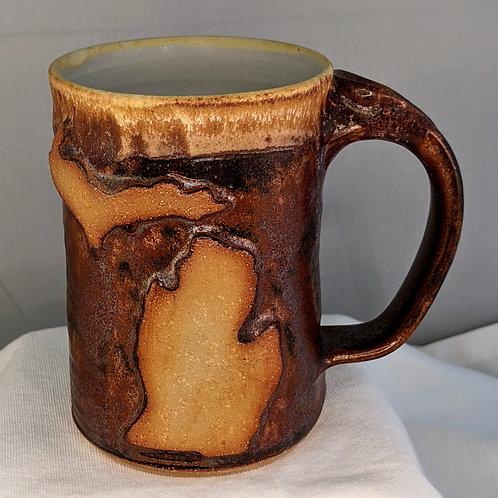 MICHIGAN Mug by TC Pottery Studio - Wild Rose Temmoku