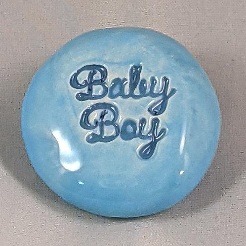 BABY BOY Pocket Stone - Sky Blue