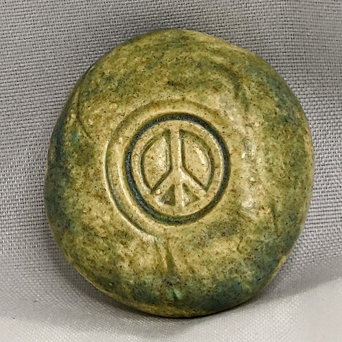 PEACE SIGN Pocket Stone - Old Copper