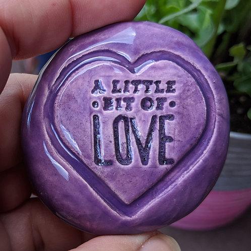 A LITTLE BIT OF LOVE Pocket Stone - Tanzanite