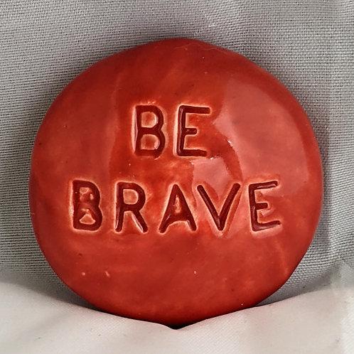 BE BRAVE Pocket Stone - Scarlet Red
