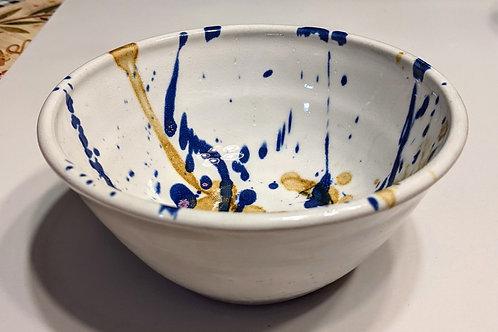 STONEWARE BOWL by TC Pottery Studio - Cobalt & Iron