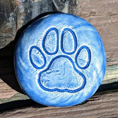 PAW PRINT Pocket Stone - Sapphire Blue