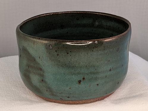 STONEWARE SMALL BOWL by TC Pottery Studio - Dark Green Matte
