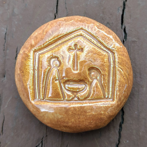 NATIVITY Pocket Stone - Amber