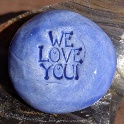 WE LOVE YOU Pocket Stone - Sapphire Blue