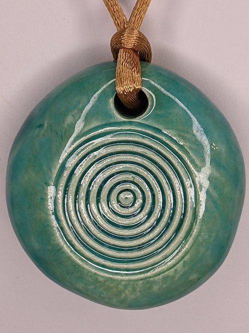 CIRCLES Necklace - Aquamarine