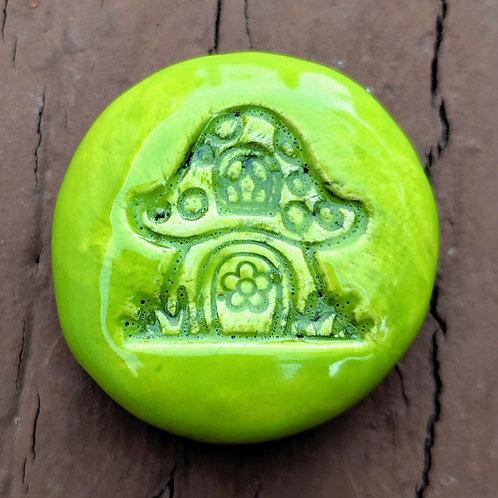 MUSHROOM HOUSE Pocket Stone - Granny Smith Green
