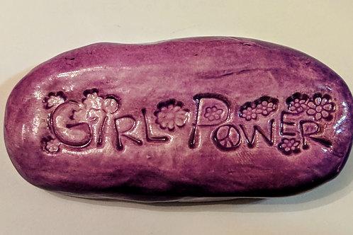 GIRL POWER Pocket Stone - Amethyst Purple