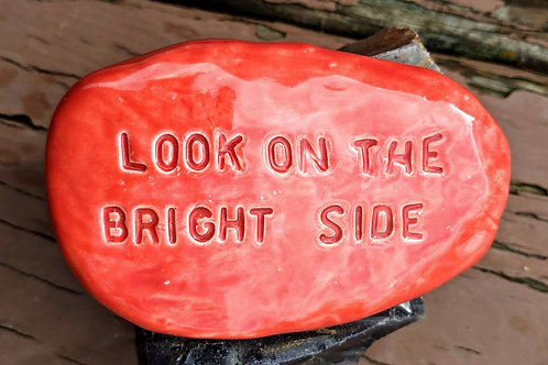 LOOK ON THE BRIGHT SIDE Pocket Stone - Sunset Red