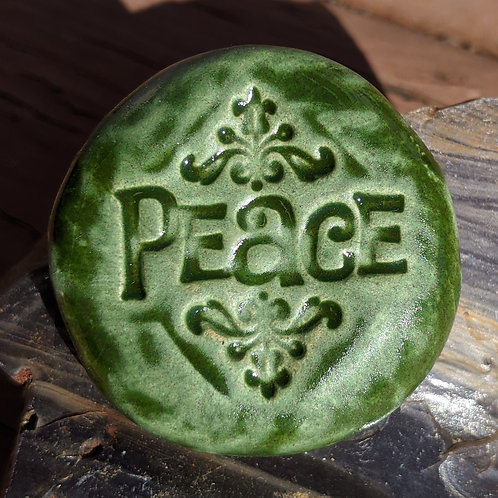 PEACE Pocket Stone - Kelp Forest Green