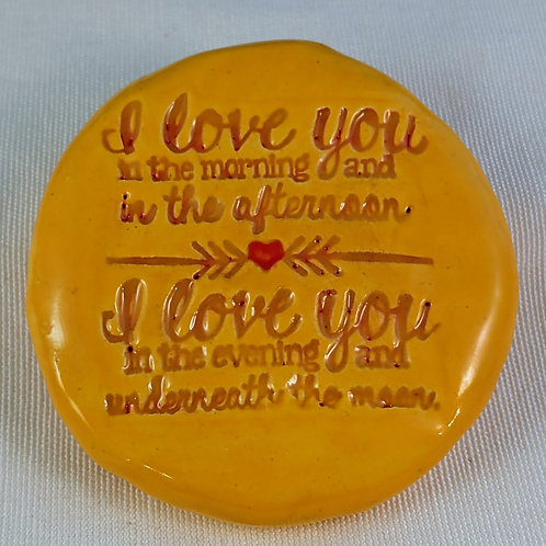 I LOVE YOU IN THE MORNING (Skidamarink song) Pocket Stone - Sun Yellow