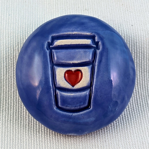 TO-GO COFFEE Pocket Stone - Vivid Blue