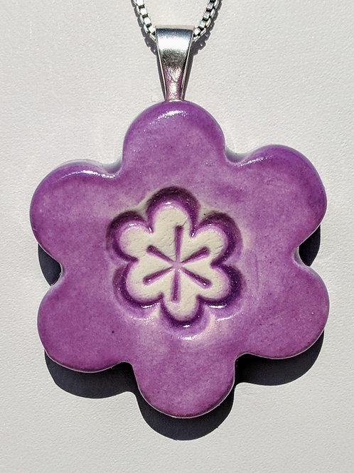 FLOWER Pendant - Amethyst Purple