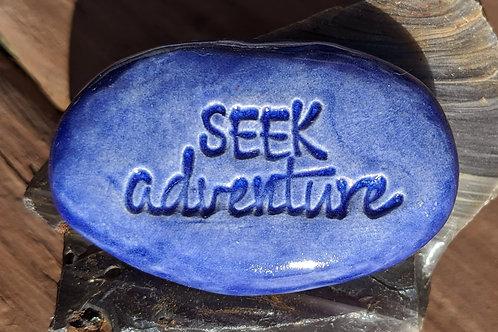 SEEK ADVENTURE Pocket Stone - Exotic Blue