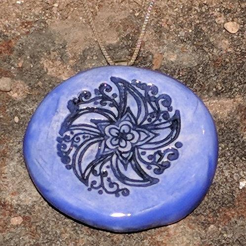 PINWHEEL Pendant - Medium Blue