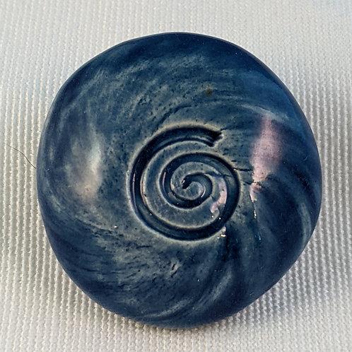 SPIRAL Pocket Stone - Sapphire Blue