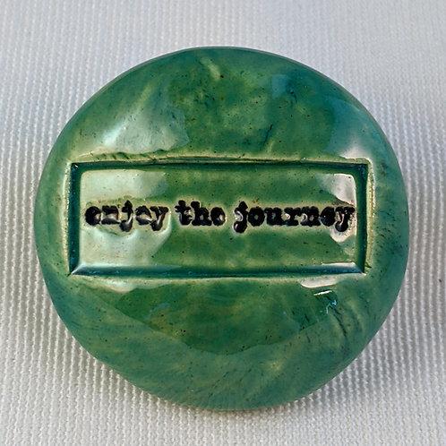 ENJOY THE JOURNEY Pocket Stone - Aquamarine