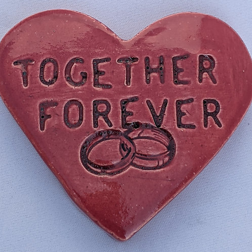 TOGETHER FOREVER Heart Stone - Rose Red