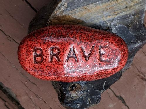 BRAVE Pocket Stone - Ruby Shimmer