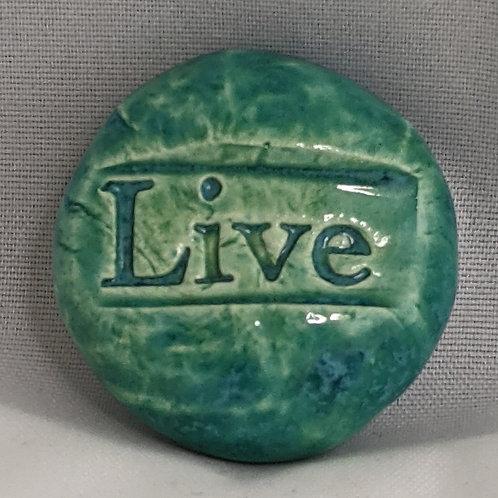LIVE Pocket Stone - Aquamarine