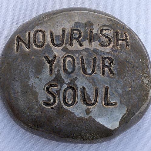 NOURISH YOUR SOUL Pocket Stone - Antique Blue