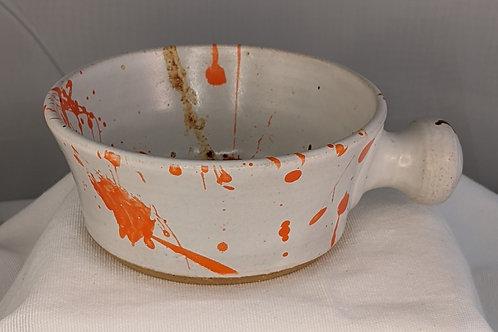 STONEWARE SOUP BOWL by TC Pottery Studio - Splattered