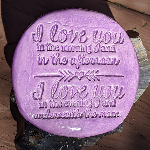 I LOVE YOU IN THE MORNING (SKIDAMARINK SONG) Pocket Stone - Amethyst Purple