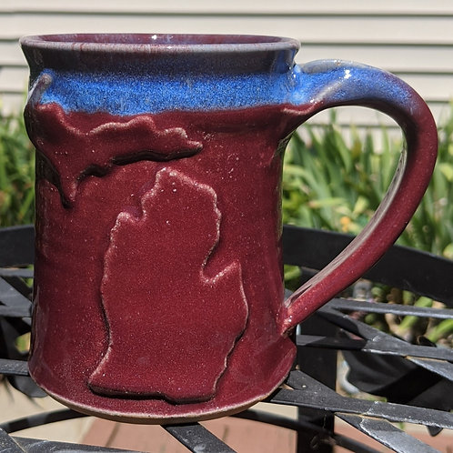 MICHIGAN MUG by TC Pottery Studio - Raspberry