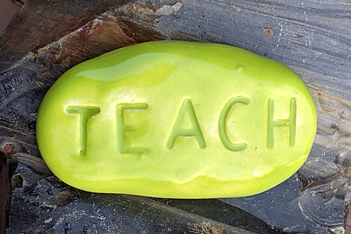 TEACH Pocket Stone - Granny Smith Green