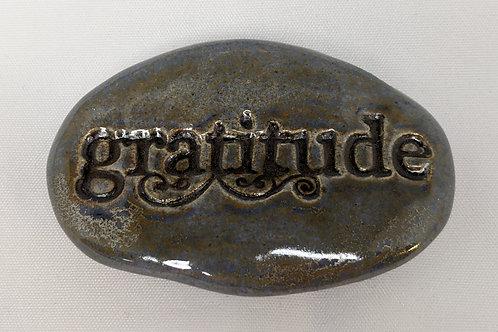 GRATITUDE Pocket Stone - Antique Blue