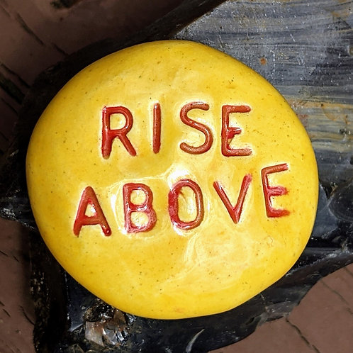 RISE ABOVE Pocket Stone - Maize
