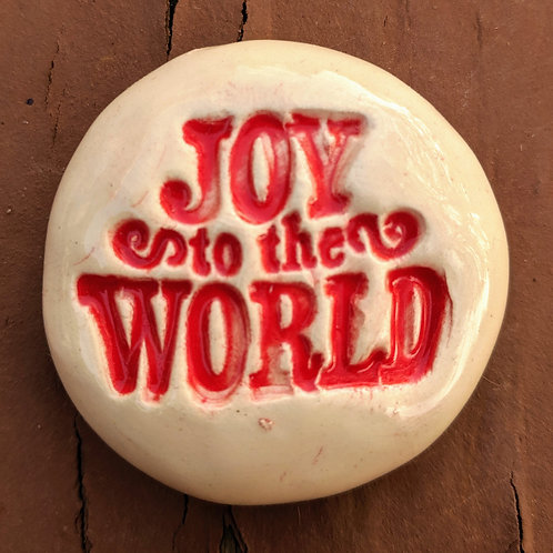 JOY TO THE WORLD  Pocket Stone - Red