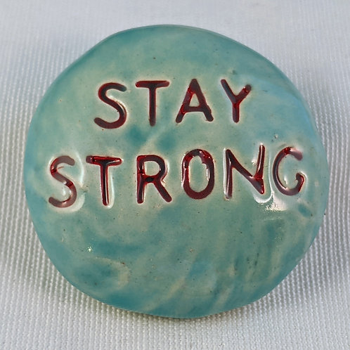 STAY STRONG Pocket Stone - Sky Blue