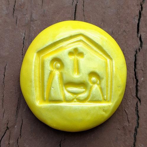 NATIVITY Pocket Stone - Bright Yellow