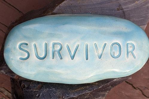 SURVIVOR Pocket Stone - Aquamarine