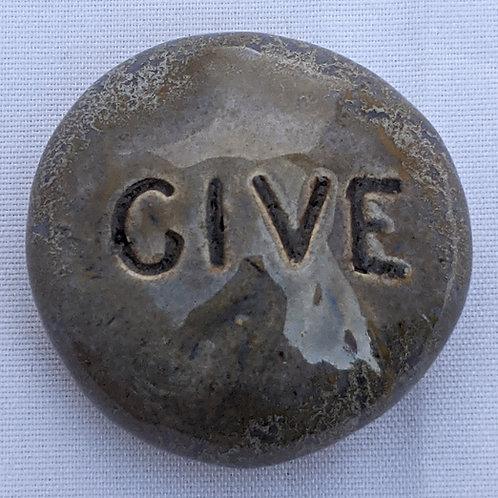 GIVE Pocket Stone - Antique Blue