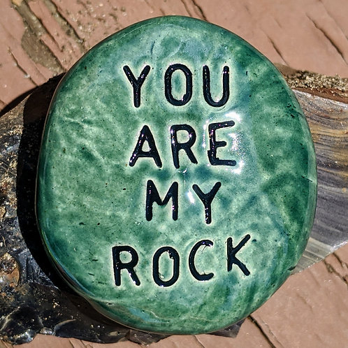 CUSTOM POCKET STONE - Your Choice of Words & Glaze Color