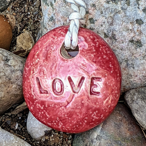 LOVE Necklace - Sirocco Red