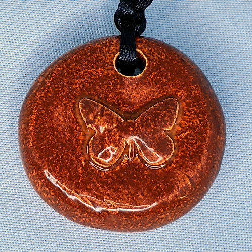 BUTTERFLY Pendant/Necklace - Burnt Orange