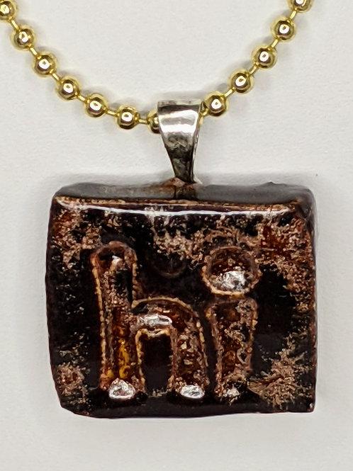 HI (hello) Pendant/Necklace - Copper Adventure